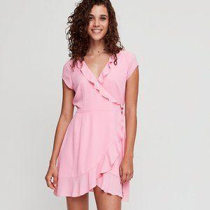 Aritzia Sunday Best Savoy Bright Pink Wrap Dress 6
